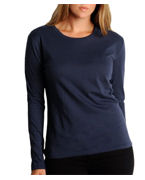 Embroidered Bella Missy Long-sleeve Crewneck Tee