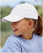 Embroidered Big Accessories Youth 6-Panel Brushed Twill Unstructured Cap