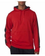 Monogrammed Champion Adult Performance Color Block Hooded Pullover Fleece