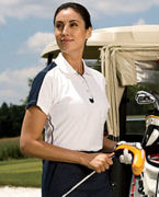 Custom Embroidered Chestnut Hill Ladies' Piped Technical Performance Polo