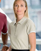 Custom Embroidered Chestnut Hill Ladies' Tipped Performance Plus Piqu Polo