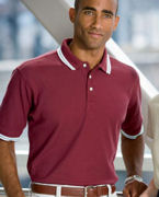 Embroidered Chestnut Hill Men's Tipped Performance Plus Piqu Polo