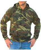 Custom Embroidered Code V Adult Camouflage Pullover Hooded Sweatshirt