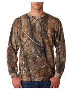 Embroidered Code V Adult REALTREE Camouflage Long-sleeve T-Shirt