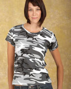 Personalized Code V Ladies' Fine Jersey Camouflage T-Shirt