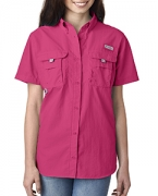 Customized Columbia Ladies' Bahama  Short-Sleeve Shirt