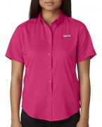 Custom Logo Columbia Ladies' Tamiami  II Short-Sleeve Shirt