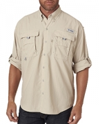 Custom Logo Columbia Men's Bahama  II Long-Sleeve Shirt