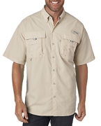 Logo Columbia Men's Bahama  II Short-Sleeve Shirt