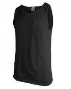 Embroidered Comfort Colors Adult Tank Top with Pocket