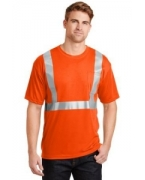 Custom Embroidered CornerStone� - ANSI 107 Class 2 Safety T-Shirt.  CS401.