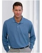 Customized (d110a) Devon & Jones Men's Pima Piqu� Long-Sleeve Polo
