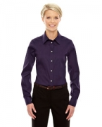 Embroidered Devon & Jones Ladies' Crown Collection Solid Stretch Twill