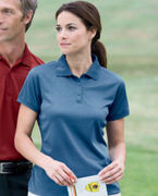 Custom Logo Devon & Jones Ladies' Dri-FastT AdvantageT Solid Mesh Polo