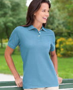 Custom Embroidered Devon & Jones Ladies' Pima Piqu Short-Sleeve Polo