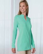 Monogrammed Devon & Jones Ladies' Stretch Jersey Long-Sleeve Tunic