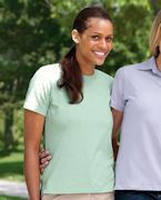 Logo Devon & Jones Ladies' Stretch Jersey T-Shirt