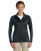 Embroidered Devon & Jones Ladies' Stretch Tech-Shell Compass Full-Zip