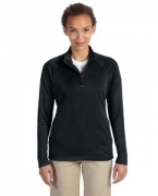 Custom Embroidered Devon & Jones Ladies' Stretch Tech-Shell Compass Quarter-Zip