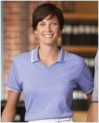 Promotional Devon & Jones Ladies' Tipped Perfect Pima Interlock Polo