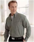 Custom Embroidered Devon & Jones Men's Long-Sleeve Titan Twill