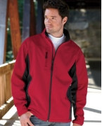 Monogrammed Devon & Jones Men's Soft Shell Colorblock Jacket