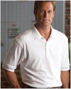 Custom Logo Devon & Jones Men's Solid Perfect Pima Interlock Polo