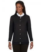 Customized Devon & Jones Perfect Fit Ladies' Ribbon Cardigan