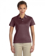 Embroidered Devon & Jones Pima-Tech Ladies' Jet Pique Heather Polo