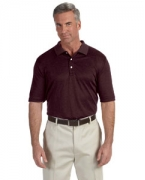 Logo Devon & Jones Pima-Tech Men's Jet Pique Heather Polo
