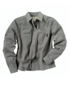 Embroidered Dri Duck Ladies' Long-Sleeve Mortar Workshirt