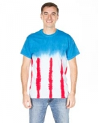 Embroidered Dyenomite Adult Patriotic Flag Tee