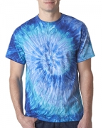 Custom Embroidered Dyenomite Adult Ripples Pigment-Dyed Tee