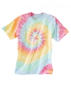Embroidered Dyenomite Rainbow Spiral T-Shirt
