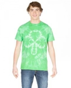 Embroidered Dyenomite Shamrock Tie-Dye T-Shirt