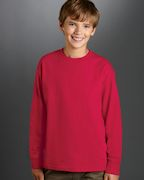 Monogrammed Fruit of the Loom Youth 5 oz., 100% Heavy Cotton HD Long-Sleeve T-Shirt