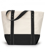 Customized Gemline Seaside Zippered Cotton Tote
