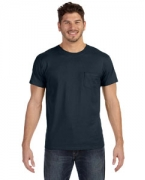 Custom Logo Hanes 4.5 oz., 100% Ringspun Cotton nano-T T-Shirt with Pocket