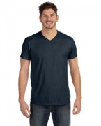 Customized Hanes 4.5 oz., 100% Ringspun Cotton nano-T V-Neck T-Shirt