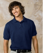 Custom Embroidered Hanes 5.2 oz., 50/50 ComfortBlend EcoSmart Jersey Knit Polo
