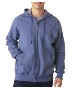 Monogrammed Hanes Adult Nano Full-Zip Blended Hooded Fleece