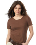 Promotional Hanes Ladies' 6.1 oz. Classic Fit 1x1 Rib T-Shirt