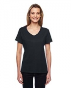 Monogrammed Hanes Ladies' X-Temp Performance V-Neck T-Shirt
