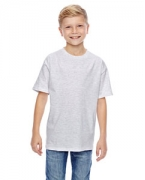 Monogrammed Hanes Youth 4.5 oz., 100% Ringspun Cotton nano-T T-Shirt