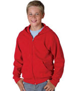Custom Embroidered Hanes Youth 7.8 oz. ComfortBlend EcoSmartT 50/50 Full-Zip Hood