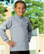 Logo Hanes Youth 6.1 oz. Tagless ComfortSoft Long-Sleeve T-Shirt