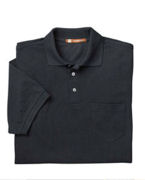 Logo Harriton 5.6 oz. Easy Blend Polo with Pocket