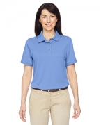 Embroidered Harriton Ladies' Advantage IL Snap Placket Performance Polo