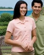 Promotional Harriton Ladies' Bahama Cord Camp Shirt