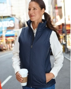 Logo Harriton Ladies' Essential Polyfill Vest